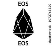 eos cryptocurrency blockchain... | Shutterstock .eps vector #1072768820