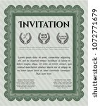 green vintage invitation. with... | Shutterstock .eps vector #1072771679