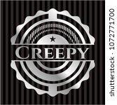 creepy silver emblem or badge | Shutterstock .eps vector #1072771700