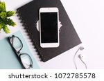 modern white office work table... | Shutterstock . vector #1072785578