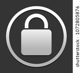 lock icon. icon in circle on...