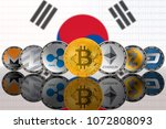 popular cryptocurrency coins on ...   Shutterstock . vector #1072808093