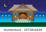 a beautiful traditional wooden...   Shutterstock .eps vector #1072816634