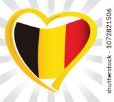 belgium flag in shape of heart | Shutterstock .eps vector #1072821506