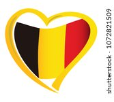 belgium flag in shape of heart | Shutterstock .eps vector #1072821509