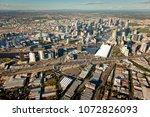 melbourne aerial skyline | Shutterstock . vector #1072826093