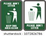 please do not litter | Shutterstock .eps vector #1072826786