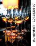 vertical glamour white wine... | Shutterstock . vector #1072830530