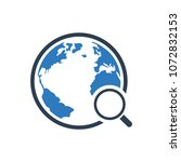 discovery  global search icon | Shutterstock .eps vector #1072832153