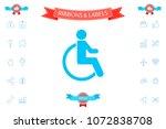 wheelchair handicap icon | Shutterstock .eps vector #1072838708