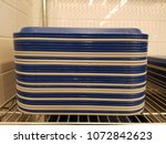 stack of blue and yellow... | Shutterstock . vector #1072842623