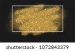 abstract background with gold... | Shutterstock . vector #1072843379