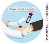 health care take blood sample...   Shutterstock .eps vector #1072865060