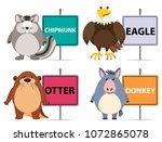animal banners on white...   Shutterstock .eps vector #1072865078