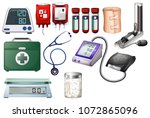 medical and nursing equipments... | Shutterstock .eps vector #1072865096