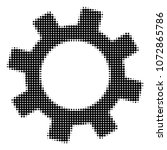 gear halftone vector icon.... | Shutterstock .eps vector #1072865786