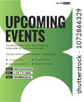 upcoming events poster with...   Shutterstock .eps vector #1072866329