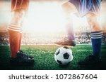 rival soccer football team... | Shutterstock . vector #1072867604