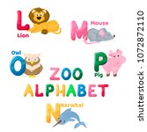 zoo alphabet animal letters...   Shutterstock .eps vector #1072872110