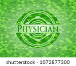 physician green mosaic emblem | Shutterstock .eps vector #1072877300