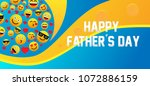 happy father's day label with... | Shutterstock .eps vector #1072886159