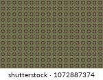 seamless pattern mandala... | Shutterstock . vector #1072887374