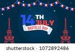 happy bastille day celebration... | Shutterstock .eps vector #1072892486