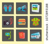 airport travel icons flat... | Shutterstock .eps vector #1072893188