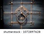 door decoration with ornate... | Shutterstock . vector #1072897628