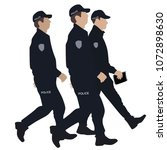 police officer   vector | Shutterstock .eps vector #1072898630