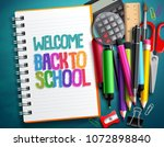 welcome back to school vector... | Shutterstock .eps vector #1072898840