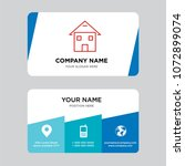 homepage business card design... | Shutterstock .eps vector #1072899074