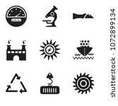 set of 9 simple editable icons...