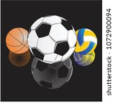 collection of sports balls... | Shutterstock .eps vector #1072900094