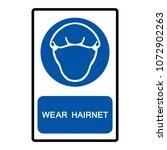wear hairness symbols  vector... | Shutterstock .eps vector #1072902263