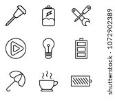 set of 9 simple editable icons... | Shutterstock .eps vector #1072902389