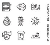 set of 9 simple editable icons... | Shutterstock .eps vector #1072902998