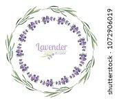 violet lavender beautiful... | Shutterstock .eps vector #1072906019