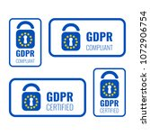 gdpr badge set made with... | Shutterstock .eps vector #1072906754