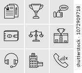 set of 9 simple editable icons... | Shutterstock .eps vector #1072909718