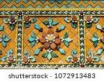 close up beauitful mosaic tiles ... | Shutterstock . vector #1072913483