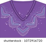 abstract beautiful applique... | Shutterstock .eps vector #1072916720