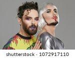a transgender couple  2...   Shutterstock . vector #1072917110