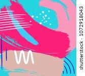 vector dymanic brush stroke... | Shutterstock .eps vector #1072918043