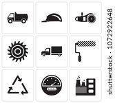 set of 9 simple editable icons... | Shutterstock .eps vector #1072922648