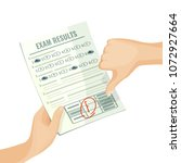unsatisfactory exam results on... | Shutterstock .eps vector #1072927664