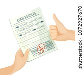 excellent exam results on paper ... | Shutterstock .eps vector #1072927670