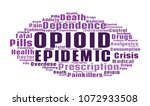 opioid crisis word cloud... | Shutterstock . vector #1072933508