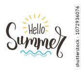 hello summer vector... | Shutterstock .eps vector #1072936076