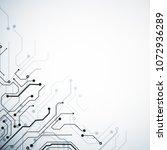 creative white circuit backdrop ... | Shutterstock . vector #1072936289